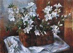 Artwork by Margaret Olley, Azaleas -Margaret Hannah Olley AC ( 1923 – was an Australian painter. Australian Painting, Australian Artists, Flower Vases, Flower Art, Art Flowers, Margaret Preston, Visual And Performing Arts, Fruit Painting, National Art