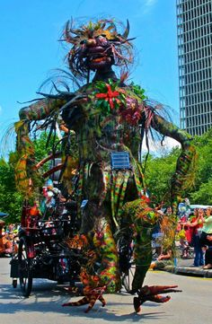 Annual Art Car Parade in Houston benefiting the Orange Show