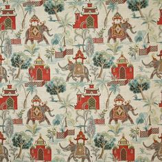 Pindler & Pindler Bijar Caribe Fabric - Healty fitness home cleaning Drapery Fabric, Linen Fabric, Chair Fabric, Curtains, Hawaiian Theme, Fabric Houses, Large Painting, Simple Shapes, Fabric Samples