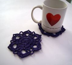 Coasters  set of 2 by knittingcate on Etsy, $10.00