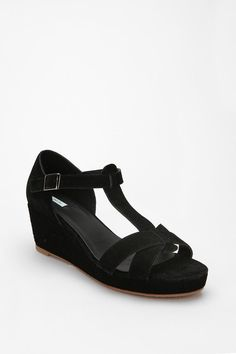 Kimchi Blue Suede T-Strap Wedge, Urban Outfitters $49.00