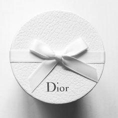 Round, White, Dior, Hatbox, White Bow