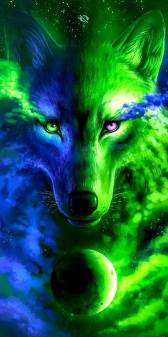 galaxy wolf wallpaper by xXShadow017 - 7ca2 - Free on ZEDGE™