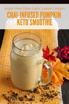 Chai-Infused Pumpkin Keto Smoothie (low-carb, keto, vegan, paleo, nut-free   sugar-free)