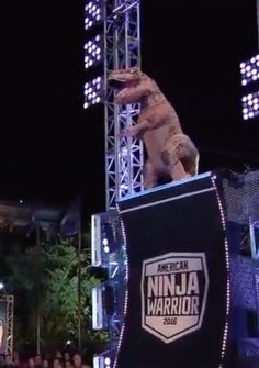 T. Rex + American Ninja Warrior = The Most Impressive Video You'll See All Day