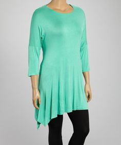Look what I found on #zulily! Seafoam Sidetail Tunic - Plus by MOA Collection #zulilyfinds