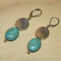 Susen Foster Designs 'Turquoise Dreams' - These earrings feature beautiful turquoise stones in a lovely and eye-catching design.