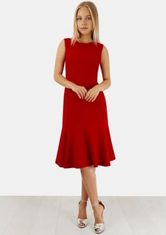 Red Sleeveless Pep H