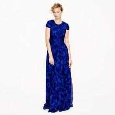 J.Crew Collection Dauphine gown in watercolor floral