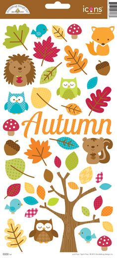 Doodlebug Design - Happy Harvest Collection - Cardstock Stickers - Icons at Scrapbook.com