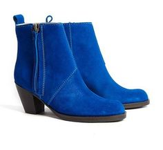 Acne Pistol boots in limited edition blue suede