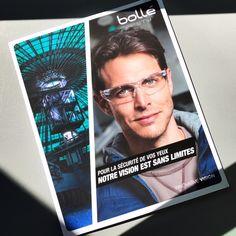 Empreinte crée et réalise le nouveau catalogue des lunettes de protection Bollé Safety. Prises de vue Fredéric Bourcier.