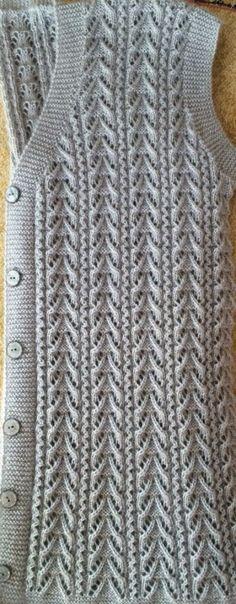 Acest PIN a fost descoperit de Fat Ladies Cardigan Knitting Patterns, Free Knitting Patterns For Women, Knitting Paterns, Knitting Designs, Knit Patterns, Hand Knitting, Handgestrickte Pullover, Vest Pattern, Romper Pattern