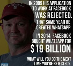 Whatsapp Founder: Originally rejected by Facebook but later sold Whatsapp to them for $19 Billion