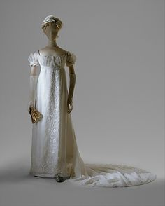 Evening dress Date: 1804–5 Culture: French Medium: cotton