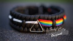 Paracord Dark Side of the Moon Bracelet by SurfCityParacord