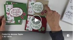 Quick & Easy Christmas Card Ideas - Ink it Up With Jessica Simple Christmas Cards, Stampin Up Christmas, Xmas Cards, Christmas 2014, Greeting Cards, Pinterest Cards, Dawns Stamping Thoughts, Card Making Tutorials, Card Patterns