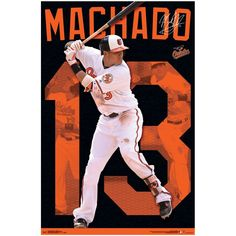 "Manny Machado Baltimore Orioles 23"" x 34"" Player Wall Poster"
