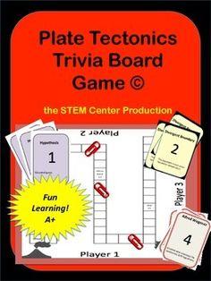 Plate Tectonics Trivia Board Game: Make Learning Fun!