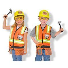 Melissa & Doug Construction Worker Role Play Costume Dress-Up Set pcs), Orange/Brown Dress Up Outfits, Dress Up Costumes, Boy Costumes, Halloween Costumes, Minion Costumes, Family Costumes, Party Outfits, Dress Suits, Construction For Kids