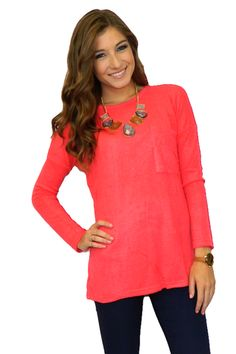 Samantha Sweater (Bright Coral)