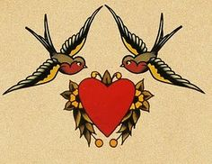 Sailor Jerry heart and swallows... this is one of my absolute favorites