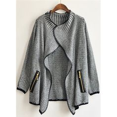 cozy sweater with zippers