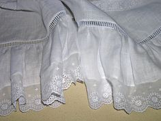 ruffle detail Sewing Lace, Baby Sewing, Free In French, Romper Suit, Christening Gowns, Heirloom Sewing, Straight Stitch, Extra Fabric, Satin Stitch