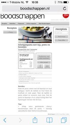 Schelpjesmacaroni met  kip, petto en boontjes.