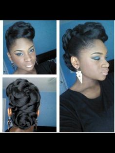 Updo.Go to http://naturalhairsalonfinder.com/ to find a stylist for your natural hair.
