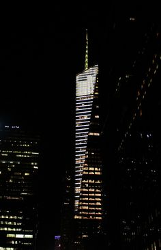 Skyscraper Facade Lighting, Exterior Lighting, Building Exterior, Building Facade, Amazing Buildings, Amazing Architecture, Arch Light, Green Facade, Collision Course