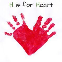 Mommy Minutes: ABC Handprint Art Part 2