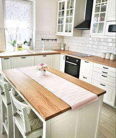 ideas for ikea kitchen island bodbyn Apartment Kitchen, Home Decor Kitchen, Kitchen Interior, New Kitchen, Home Kitchens, Kitchen Design, Kitchen Ideas, Ikea Bodbyn Kitchen, Ikea Kitchen Cabinets