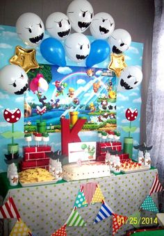 Amazing Super Mario Bros boy birthday party!  See more party ideas at CatchMyParty.com!