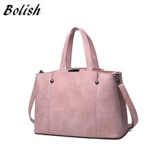 Handbags  Hot Sale Nubuck Leather Women Top-Handle Bags Candy Color Women Shoulder Bag Rivet Women Bags ** AliExpress Affiliate's Pin. Find similar beautiful pieces on AliExpress website by clicking the image