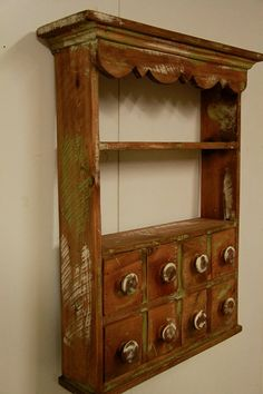 Kitchen Spice Rack Apothecary wall shelf by LynxCreekDesigns, $149.99