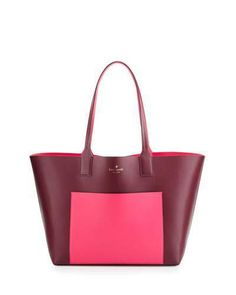 Kate Spade New York Jones Street Posey Colorblock Tote Bag, Mulled Berry/Pink Confetti  ON SALE: Was $298.00 Reduced to: $223.00  25% OFF