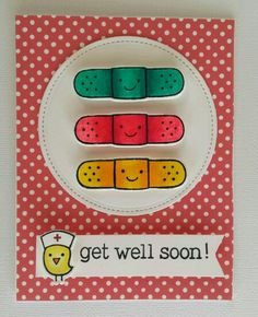 Lawn Fawn Get well soon and On the mend stamps and dies, Let's polka patterned paper. Created by Iris Esther Lopez Bartolomei. #LawnFawn