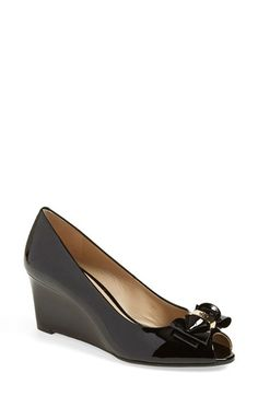 Tory Burch Peep Toe Wedge Pump (Women) available at #Nordstrom