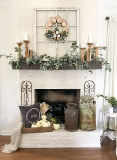 Farmhouse Mantle Decor 1 Farmhouse Windowpane Mantel Decor Farmhouse Mantel Pictures farmhouse mantle decor 1 farmhouse windowpane mantel decor farmhouse mantel pictures Always aspired to be able to knit, . Decor, Farm House Living Room, Farmhouse Decor, Fall Mantel Decorations, Farmhouse Mantle Decor, Fireplace Mantle Decor, Spring Home Decor, Home Decor, Living Room Designs