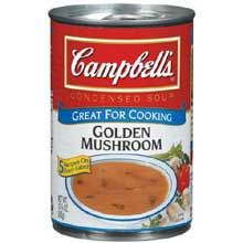 Homemade substitute for canned golden mushroom soup (I doubled the recipe and froze it to use in crockpot stroganoff recipes.)