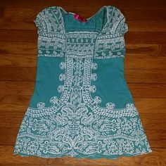 Almost Famous Turquoise & White Bandana Stretch Gorgeous , Brand New , No Tags,  No Stains  , Issues  , Odors  , Smoking or Pets,  Adorable and Stretchy Super Cute ! Almost Famous Tops