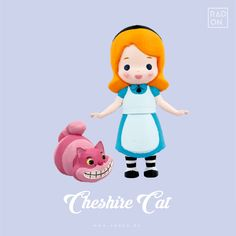 3D printed art toy!! Alice in Wonderland with Cheshire Cat! Let us help you to release your stress with Radon DIY coloring Kit :D #Arttoy #3Dprinting #DIY #Coloring #littleprince #RADON #Hobby #Alice # Alinceinwonderland #Redhood #cute #color