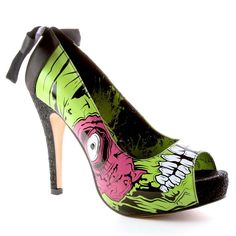 IRON FIST LADIES ZOMBIE STOMPER PEEP TOE PLATFORM BLACK & GREEN (R3B) in Clothes, Shoes & Accessories, Women's Shoes, Heels | eBay
