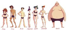 CF: Body type lineup by *nargyle on deviantART
