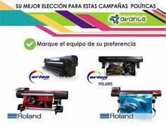 ¡Los mejores equipos ideales para sus campañas políticas! En la compra de su equipo OrionJet adquiera GRATIS tinta y lona por 6 meses #TuMejorElección #FelizJueves