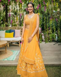 Intimate Delhi Wedding With A Bubblegum Pink Bridal Lehenga Pink Bridal Lehenga, Indian Bridal Lehenga, Summer Wedding Outfits, Bridal Outfits, Rainbow Wedding Decorations, Mehendi Outfits, Indian Outfits, Green Lehenga, Groom Outfit