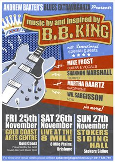 Andrew Baxter's Blues Extravaganza with Mike Frost, Shannon Marshall, Martha Baartz and Wil Sargisson.