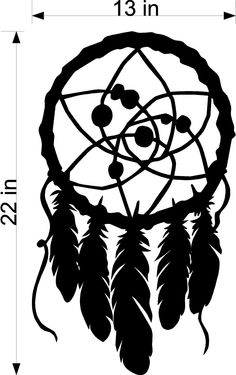 Dream Catcher - Wall art, sticker, Vinyl decals, Removable wall art, wall decor. $19.99, via Etsy.
