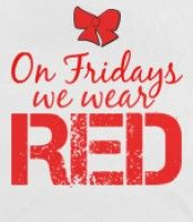 """Red Friday- I personally don't know anyone deployed but I (try to) wear red on Fridays to """"remember everyone deployed"""" - God bless our troops and our country!!! <3"""